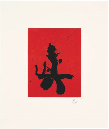 Red Samurai by Robert Motherwell
