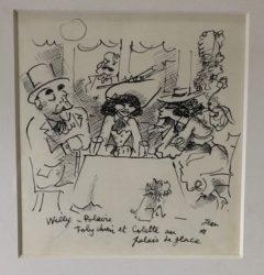 Willy, Polaire, Toby Chien et Colette au Palace de Glace by Jean Cocteau at Fairhead Fine Art