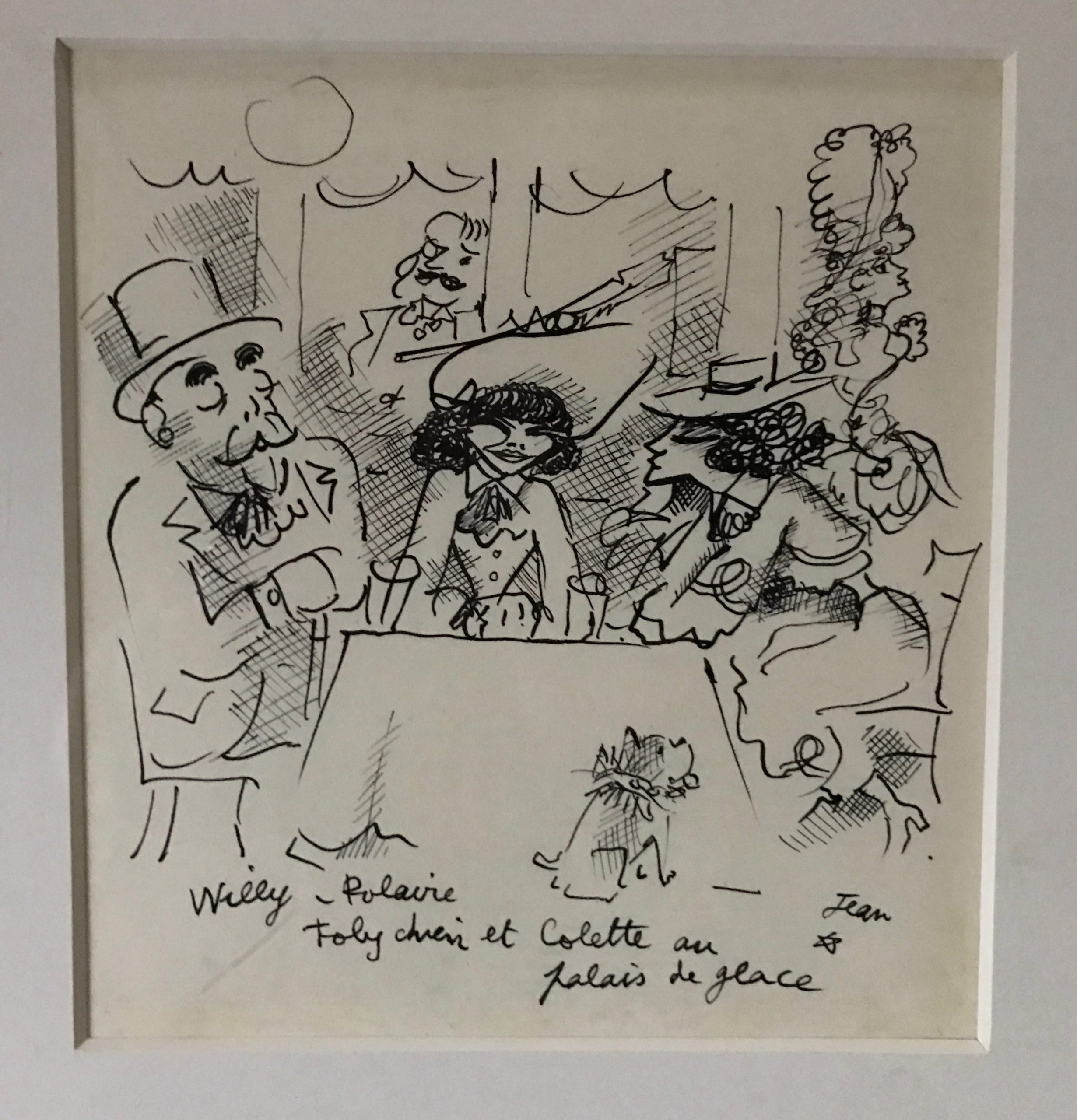 Willy, Polaire, Toby Chien et Colette au Palace de Glace by Jean Cocteau