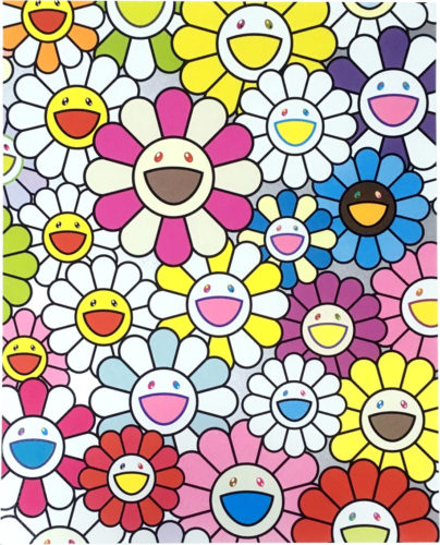 A Little Flower Painting: Pink, Purple and Many Other Colors by Takashi Murakami