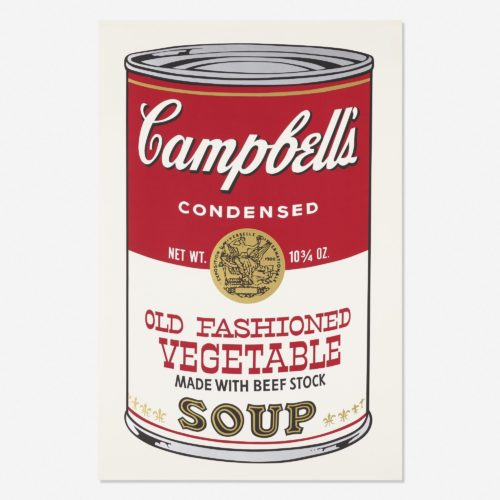 Campbell's Soup II, Old Fashioned Vegetable FS II 54 by Andy Warhol
