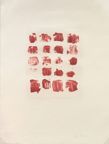 Little Red Shapes by Pat Steir at
