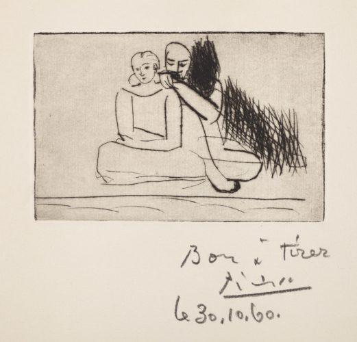 Couple au bord de l'eau Bloch 71 by Pablo Picasso
