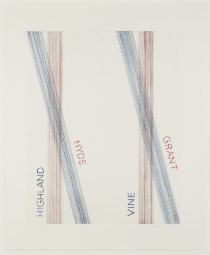 L.a.s.f. #2 by Ed Ruscha at Leslie Sacks Gallery (IFPDA)