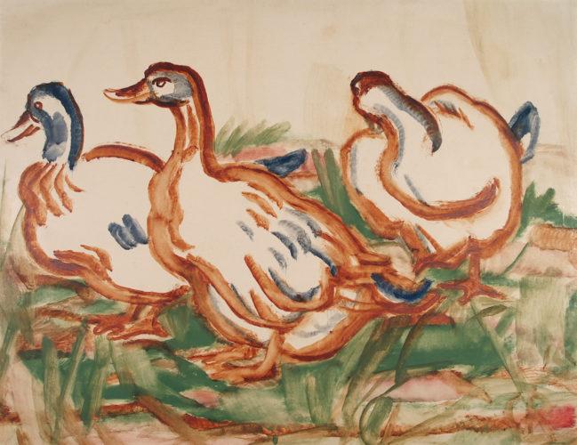 Drei Enten (Three Ducks) by Christian Rohlfs at