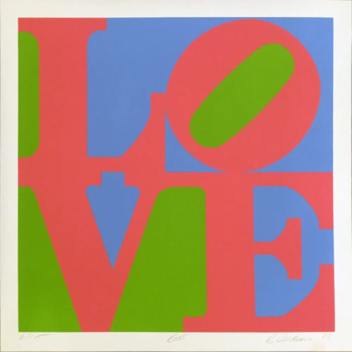 Rose (from a Garden of Love) by Robert Indiana
