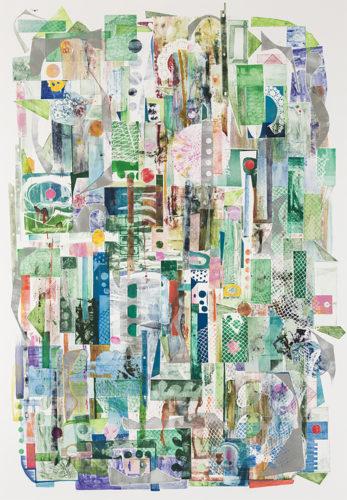 Pinball Hollyhocks by Sue Oehme