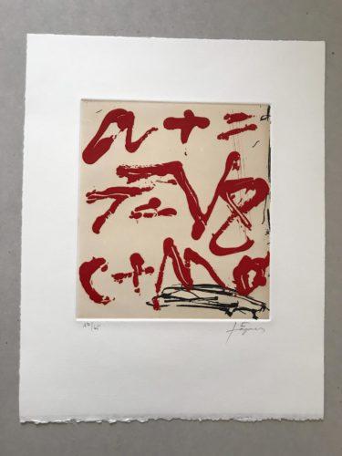 Signes by Antoni Tapies