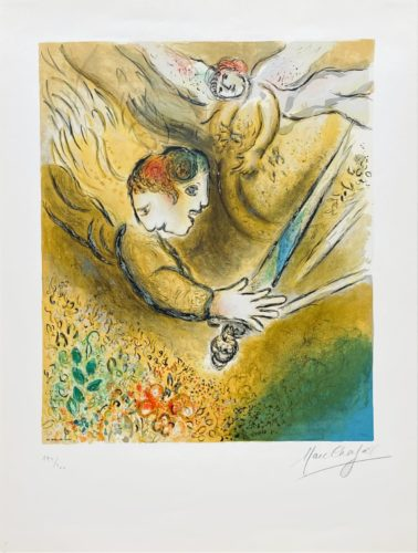 L'ange du jugement by Marc Chagall at Fairhead Fine Art