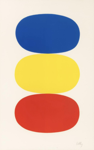 Blue and Yellow and Red-Orange by Ellsworth Kelly