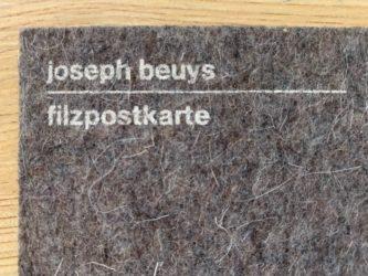Filzpostkarte by Joseph Beuys at Fairhead Fine Art