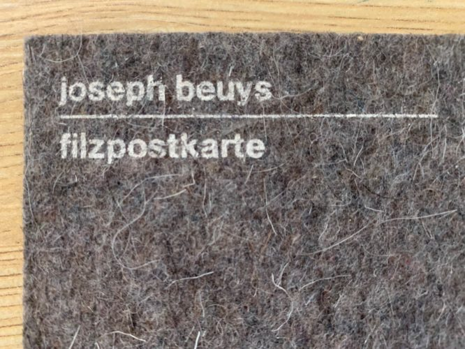 Filzpostkarte by Joseph Beuys at Fairhead Fine Art