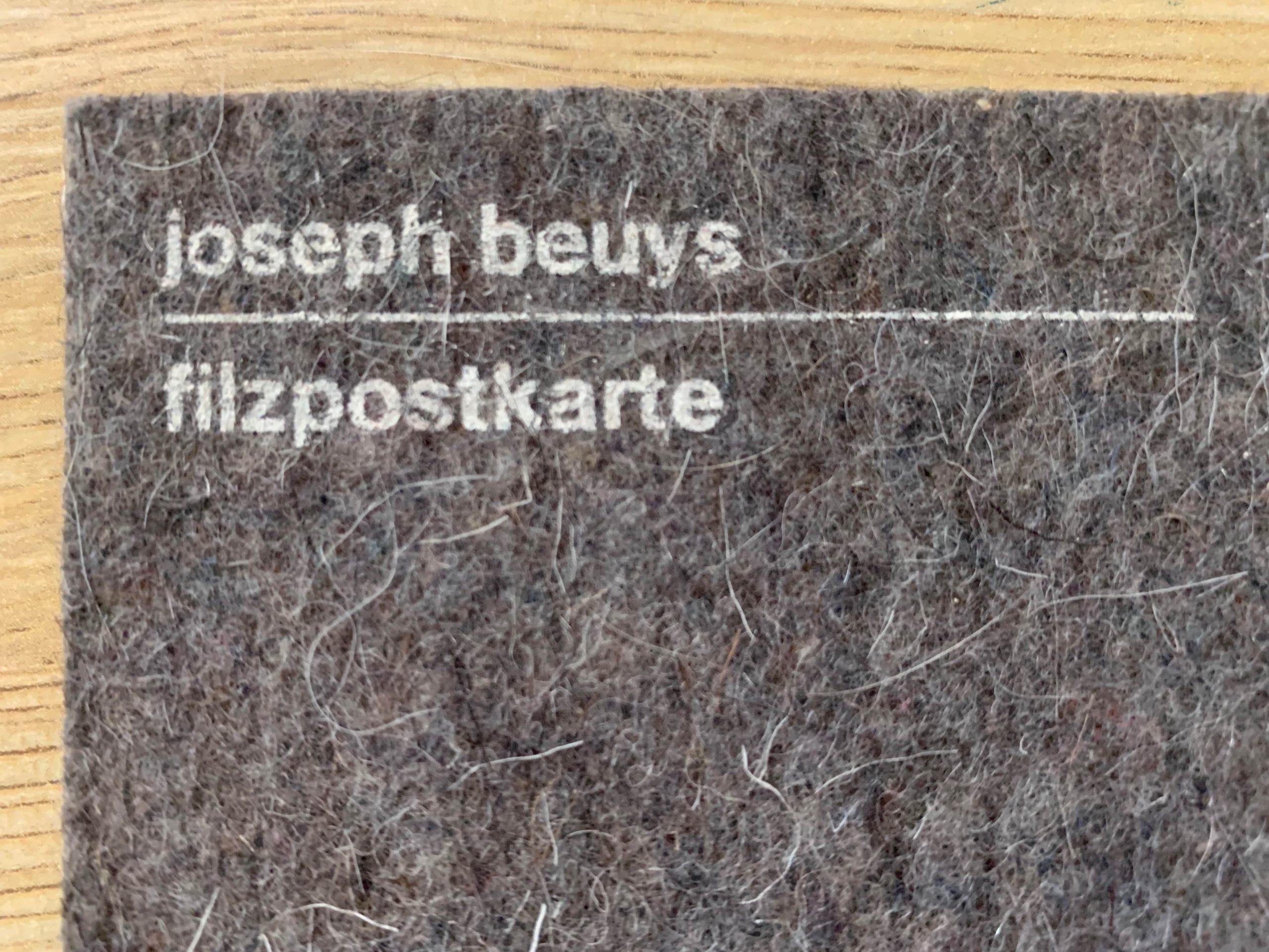 Filzpostkarte by Joseph Beuys