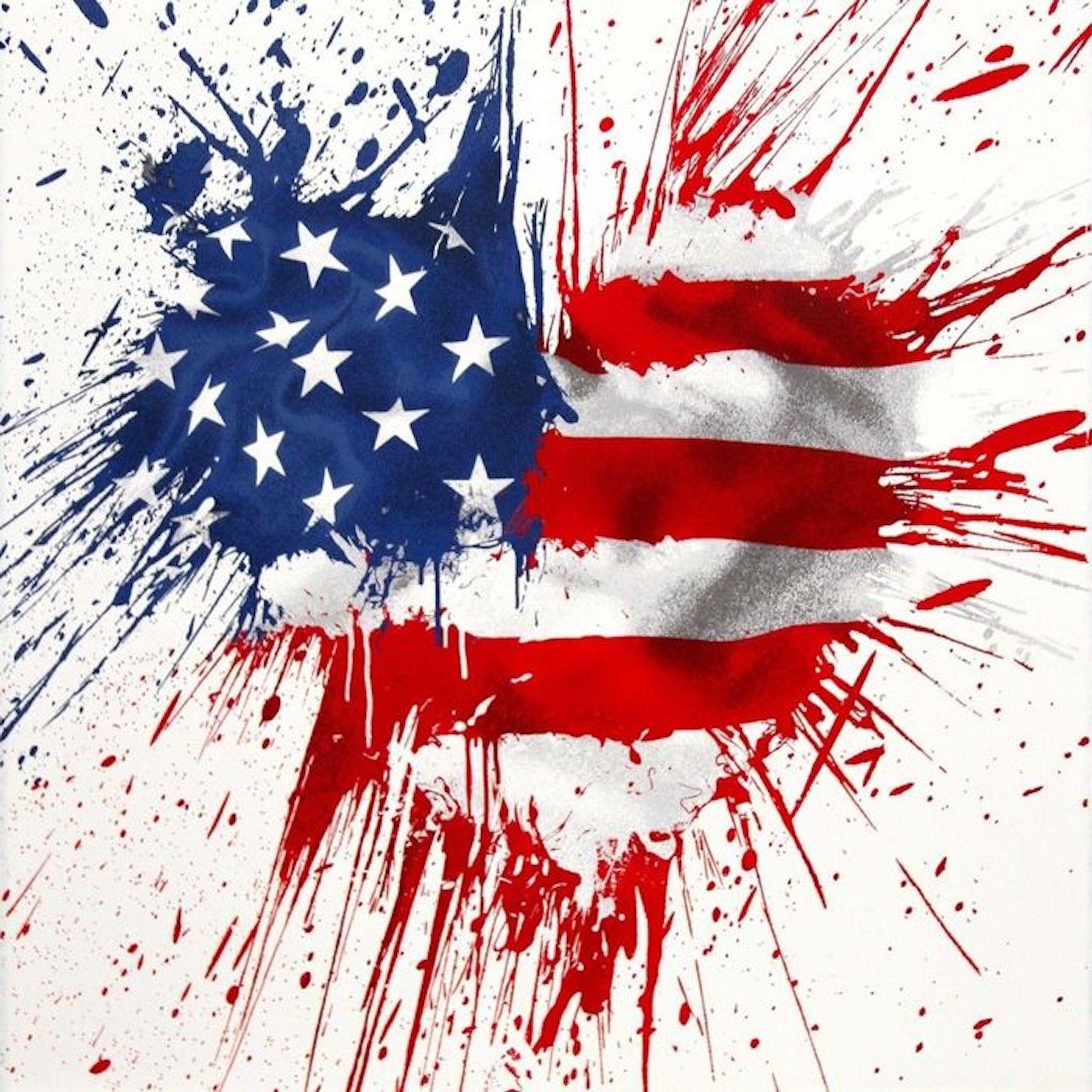 America is in the Heart by Mr. Brainwash