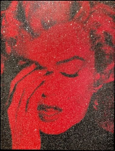 Marilyn Crying – Fire Red by Russell Young