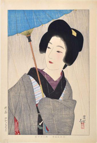 Drizzling Rain by Ito Shinsui at