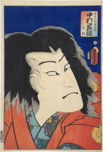 Actor Nakamura Shikan IV as Kiyomizu no Chigo Sutewakamaru by Utagawa Kunisada (Toyokuni III)
