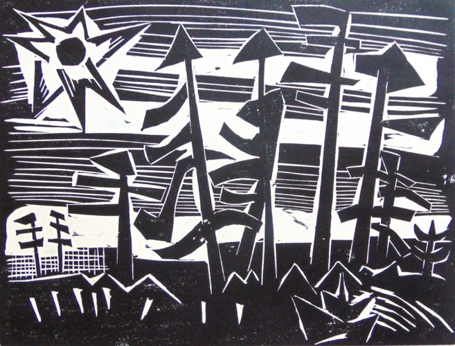 Russian Forest | Russisches Wald by Karl Schmidt-Rottluff