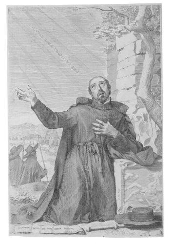 Saint Ignace de Loyola en extase by Claude Mellan at