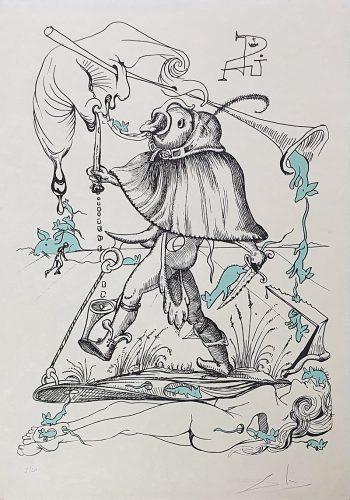 """""""Les Songes Drôlatiques de Pantagruel"""" (Plancha 73-7-F) by Salvador Dali"""