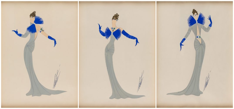 Set of three Costume Designs by Erte