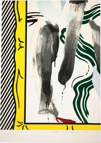 Against Apartheid 1983 by Roy Lichtenstein at Roy Lichtenstein