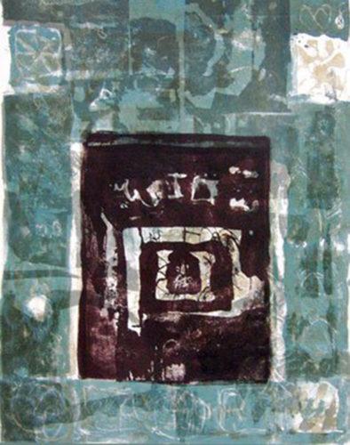 Hommage a domenikos- Cadre bleu by Antoni Clave at