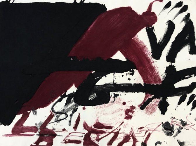 Negre i roig serie by Antoni Tapies