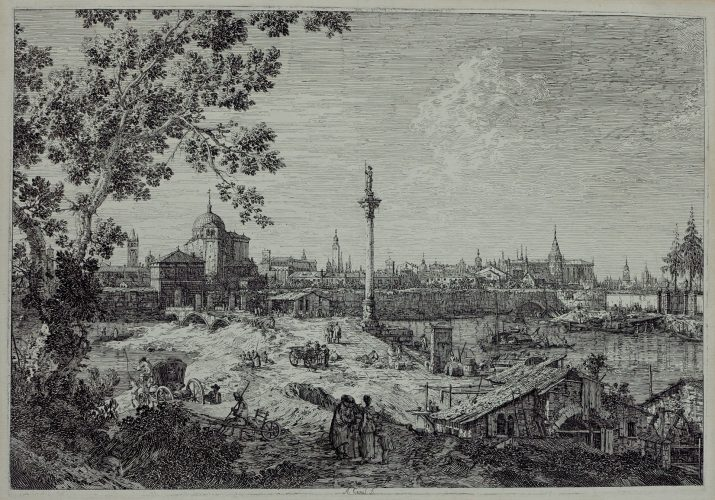 Imaginary View of Padua by Antonio Canal (Canaletto)
