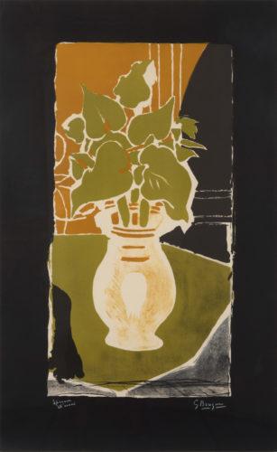 Feuilles Couleur Lumière by Georges Braque at