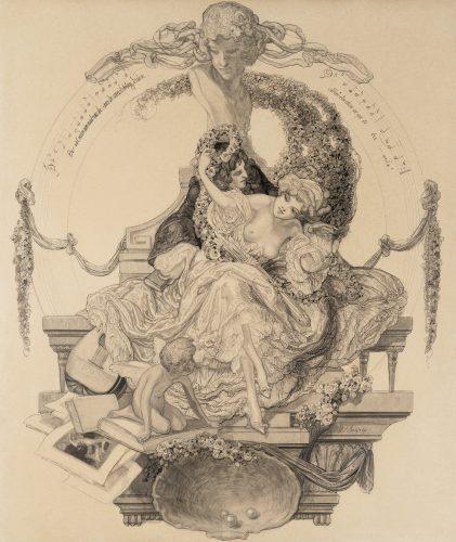 Ex-libris Geheimrat Lichtenberg by Franz von Bayros