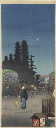 The Big Gate at Yotsuya by Takahashi Hiroaki (Shotei)