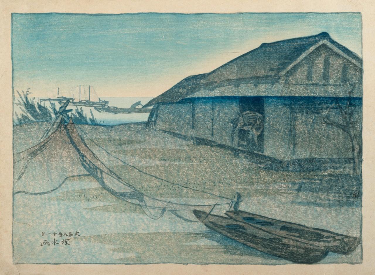 Dawn at the Tachiaigawa River by Ito Shinsui