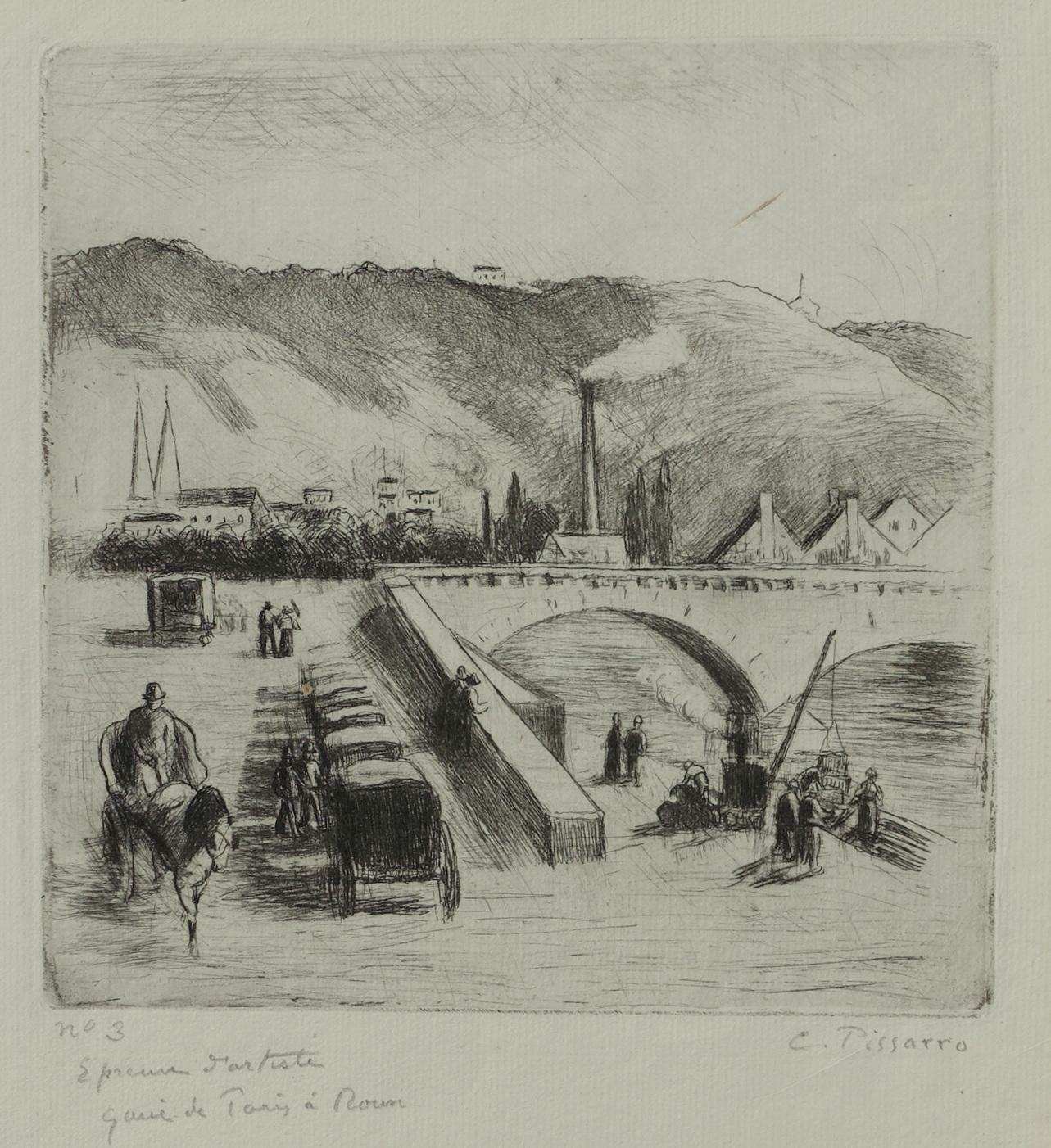 Quai de Paris à Rouen by Camille Pissarro