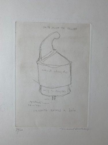 Tire a quatre epingles by Marcel Duchamp
