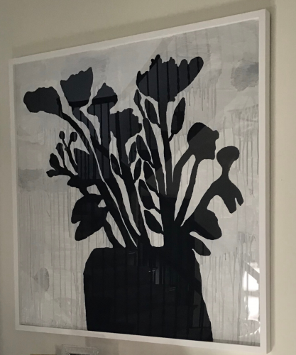 Flowers In Vase by Donald Baechler at