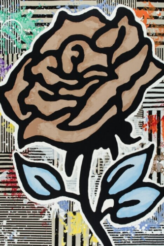 Brown Rose by Donald Baechler