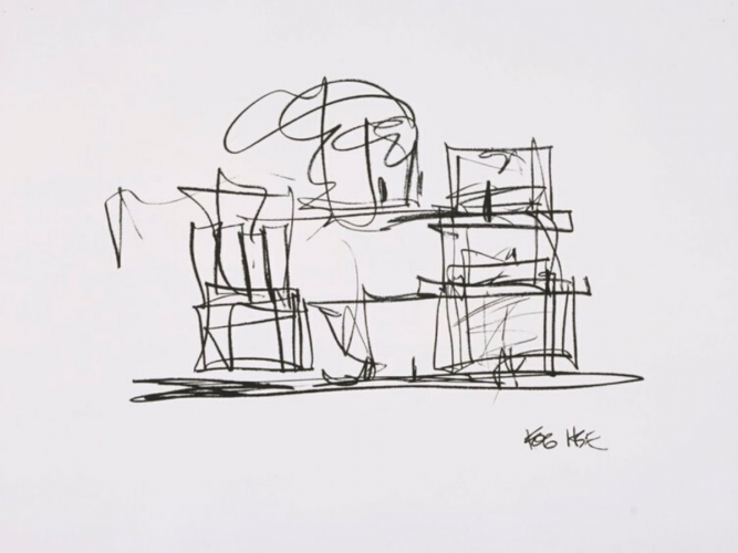 Study For New Frank Gehry House by Frank Gehry at