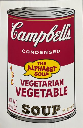 Campbell's Soup II, 1969 Vegetarian Vegetable F&S II.56 by Andy Warhol