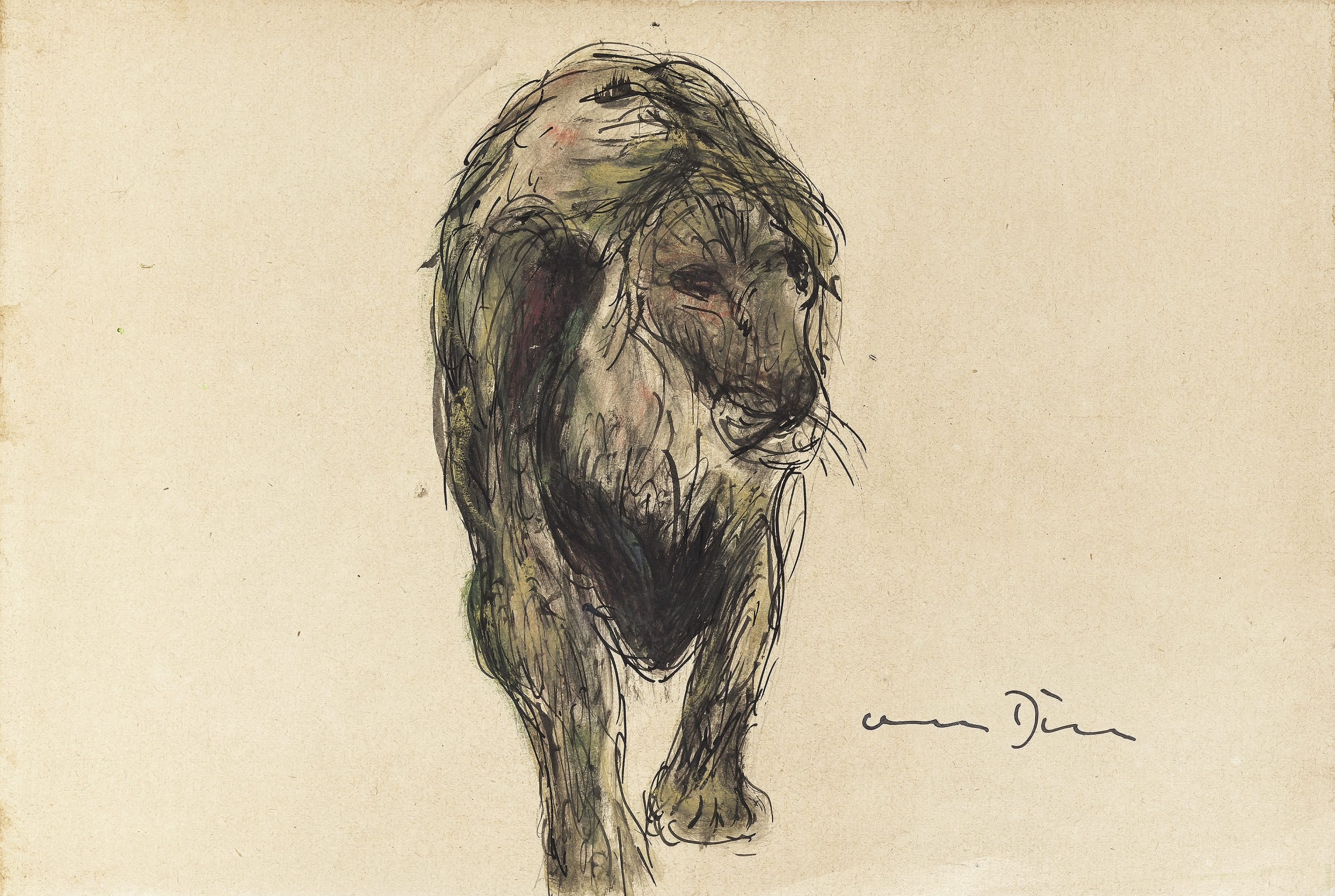 Walking Lion by Otto Dill