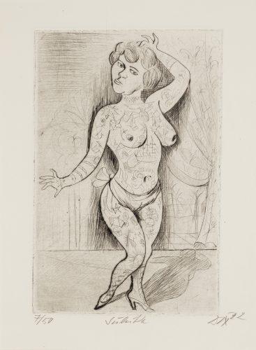 Maud Arizona (Suleika, The Tattooed Wonder) by Otto Dix