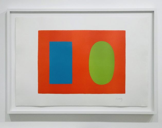 Blue and Green over Orange by Ellsworth Kelly