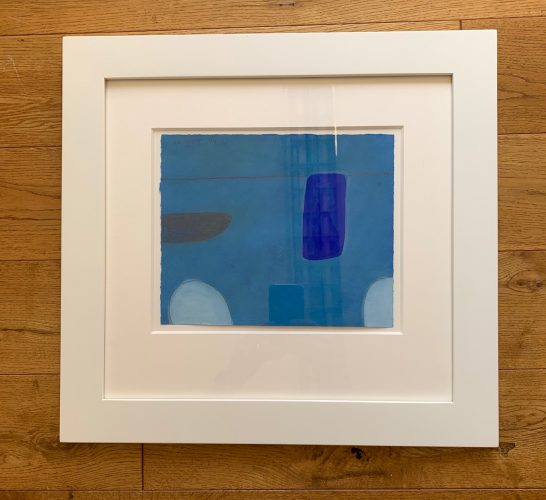 Still Life Abstracted 1st Theme,  In Blue, No XLVI/L by William Scott at