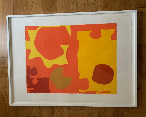 Six in Light Orange with Red in Yellow (April 1970) by Patrick Heron at Fairhead Fine Art