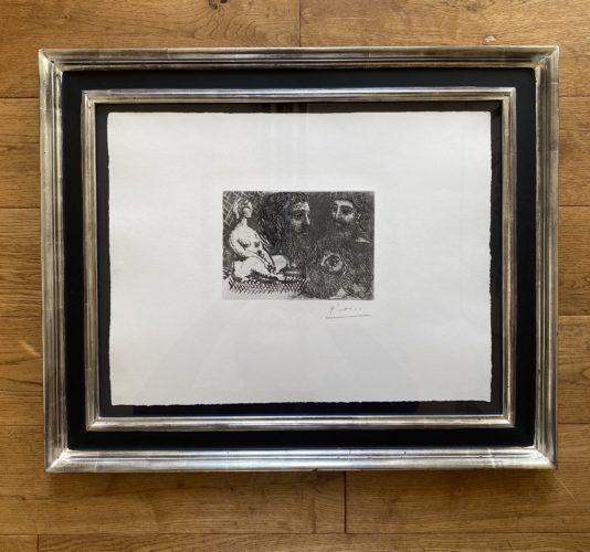Marie-Therese en idole et trois Grecs Barbus by Pablo Picasso at Fairhead Fine Art