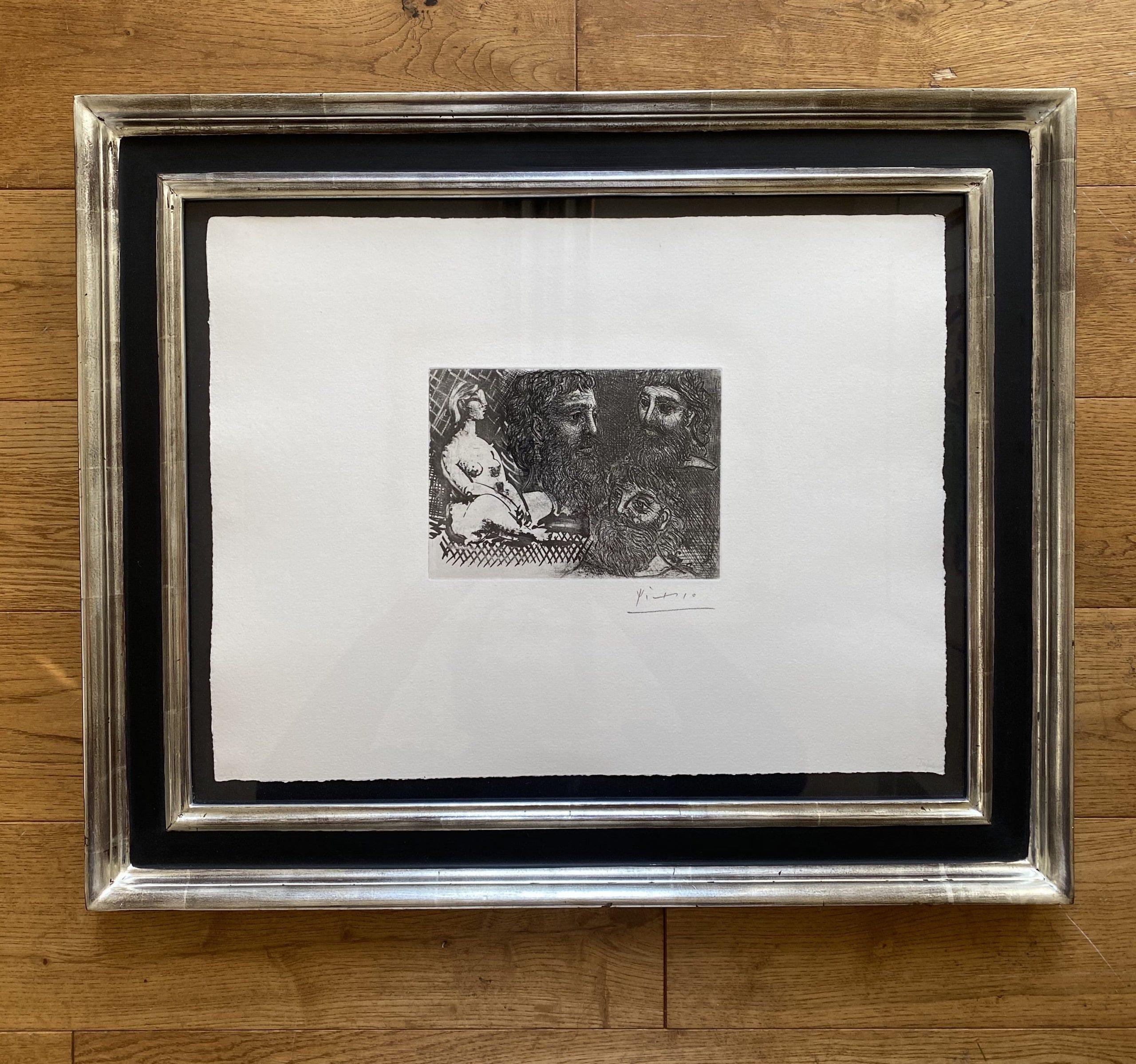 Marie-Therese en idole et trois Grecs Barbus by Pablo Picasso