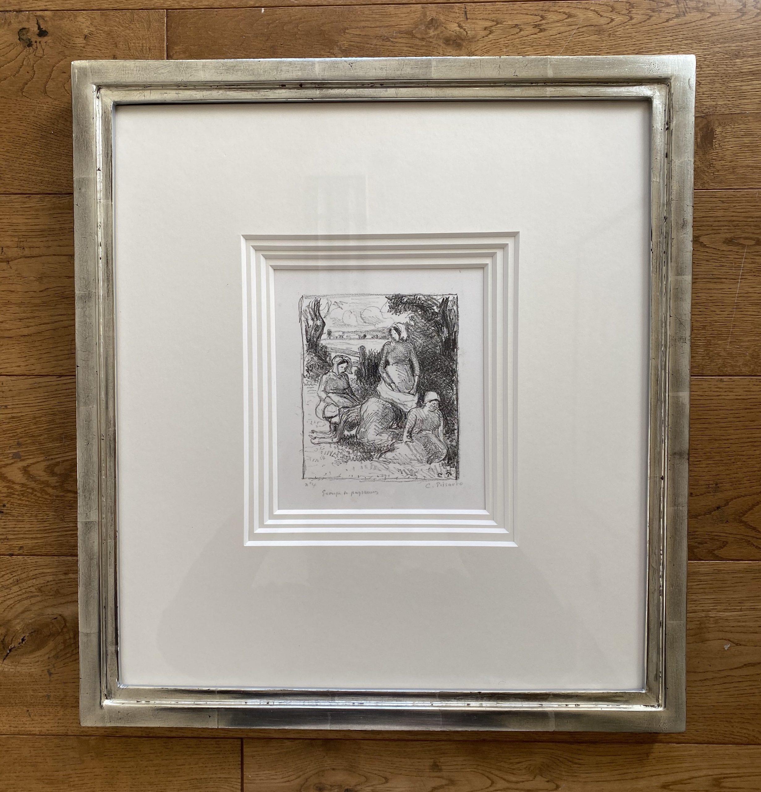 Group de paysans by Camille Pissarro