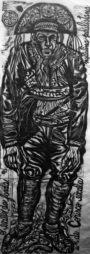 O exílio da  farda de Corisco exala naftalina paulistana by Francisco Maringelli at Galeria Gravura Brasileira