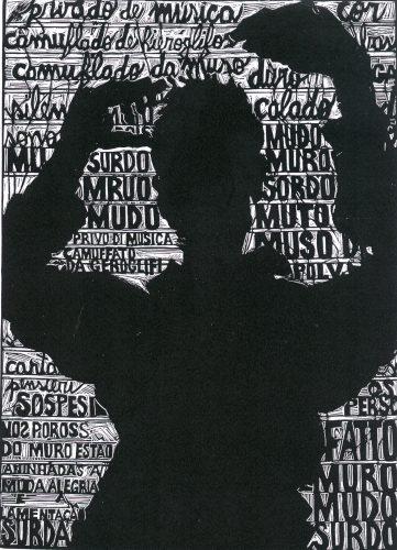 Privado de música, camuflado de hieróglifos (Deprived of music, camouflaged with hieroglyphics) by Francisco Maringelli at Galeria Gravura Brasileira