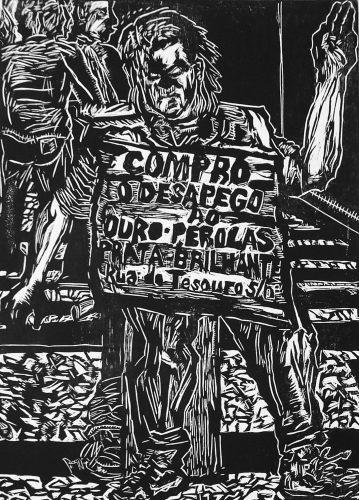 Compro o desapego ao ouro, pérola, prata, brilhantes by Francisco Maringelli at Galeria Gravura Brasileira